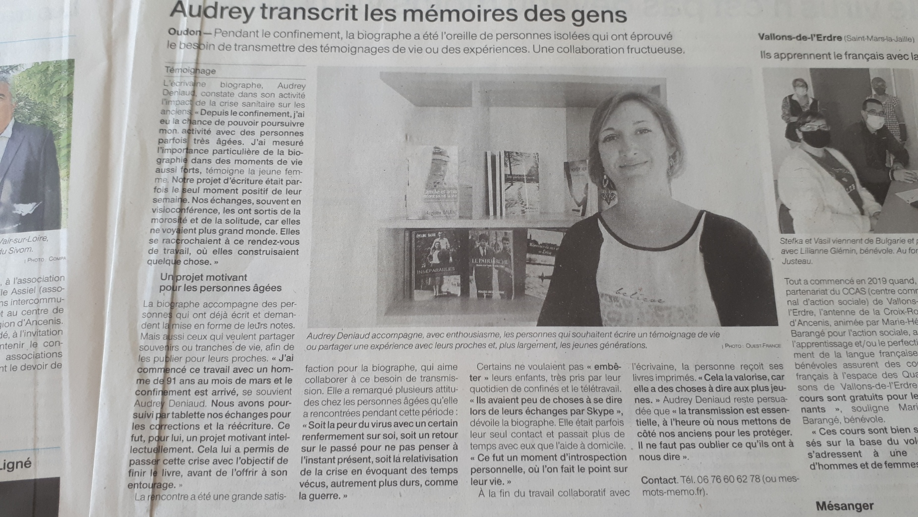 ouest france audrey deniaud